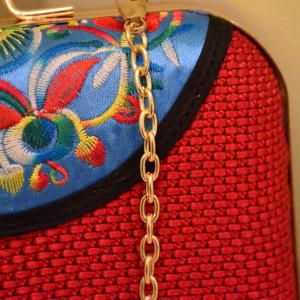 Ethnic Embroidery and Chain Design Evening Bag For Women -