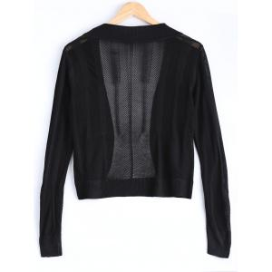 Brief Pure Color Textured Knitted Cardigan For Women -
