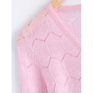 Casual Zig Zag Textured Knitted Cardigan For Women -