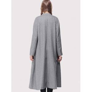 Stand Collar Loose-Fitting Trench Coat -