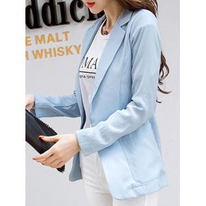 Casual Pure Color Pocket Blazer For Women -