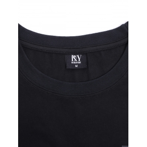 BoyNewYork Floral Applique Spliced T-Shirt -