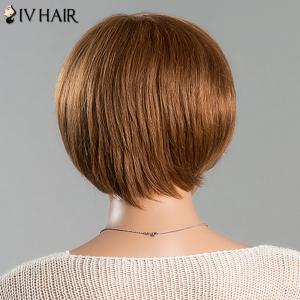 Short Straight Side Bang Women's Spiffy Siv Human Hair Wig -