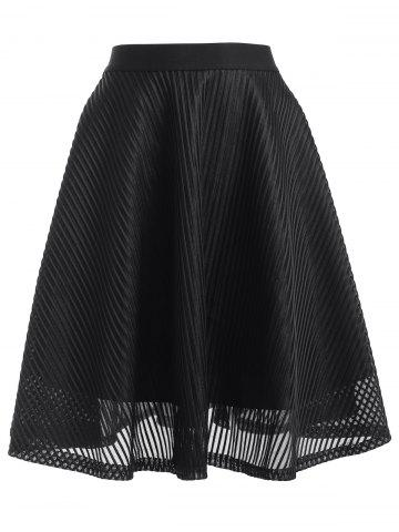 Outfit High Waisted Stripe See-Through A Line Skirt