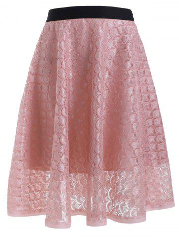 Affordable See-Through Lacework A Line Skirt