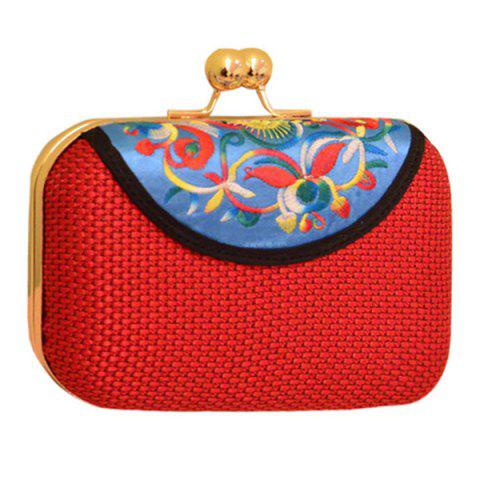 Online Ethnic Embroidery and Chain Design Evening Bag For Women