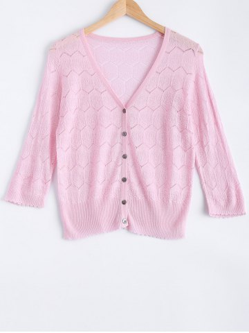 Unique Casual Zig Zag Textured Knitted Cardigan For Women