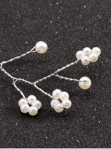 Unique Graceful Faux Pearl Hairband - SILVER  Mobile