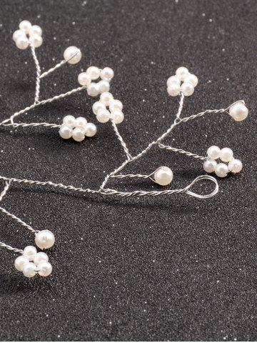 Outfits Graceful Faux Pearl Hairband - SILVER  Mobile