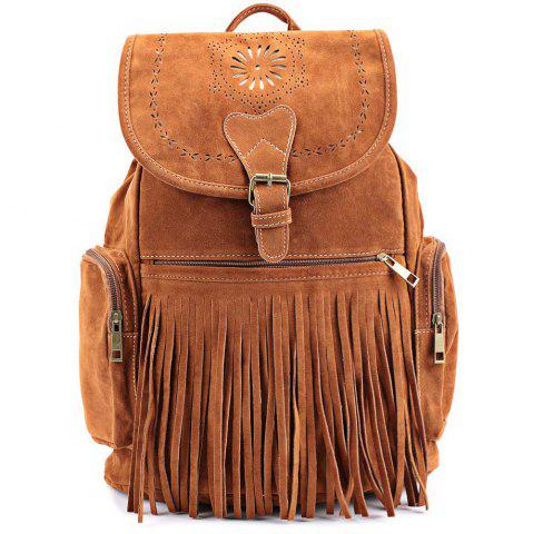 Shop Retro Engraving and Fringe Design Women's Satchel