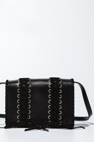 Store Flap Crossbody Bag - BLACK  Mobile