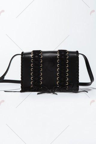 Cheap Flap Crossbody Bag - BLACK  Mobile