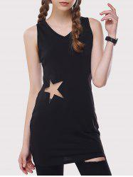 Star Mesh Inset Long Tank Top