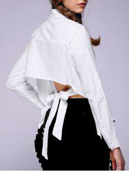 Women's Backless Solid Color Shirt -
