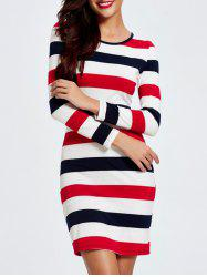 Trendy Color Block Striped Skinny Slimming Women's Dress - STRIPE