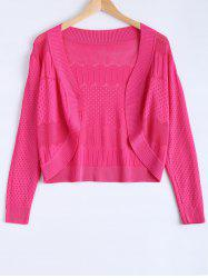 Stylish Long Sleeve Ribbed Cardigan For Women -