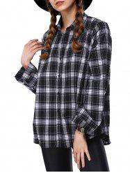 Loose Long Sleeve Plaid Shirt -
