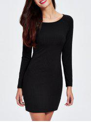 Ribbed Knit Long Sleeve Bodycon Dress