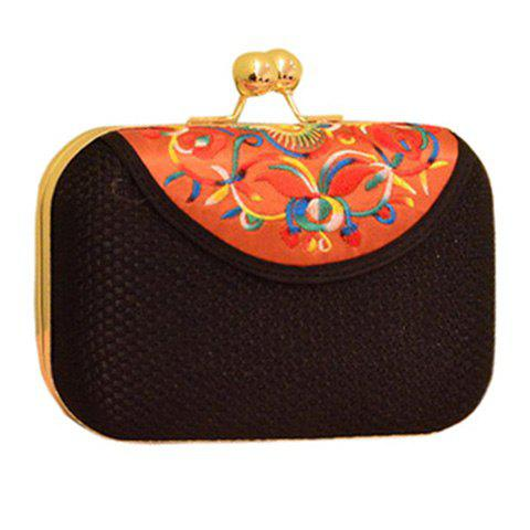 Latest Ethnic Embroidery and Chain Design Evening Bag For Women