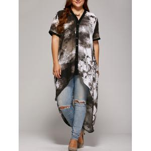 Plus Size Single Breasted Asymmetrical Blouse