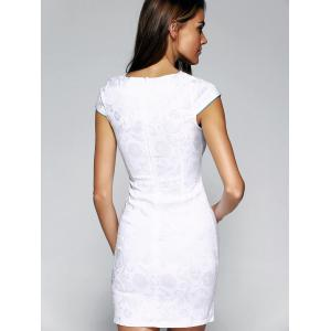 Retro Wavy Cut Jacquard Embroidered Dress For Women -