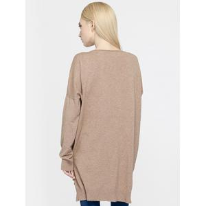 Brief Women's Pure Color Asymmetric Loose Sweater -