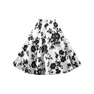 Vintage Flower Printed Skirt -