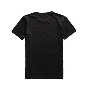 Cartoon Print Crew Neck T Shirt - BLACK 2XL