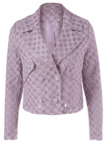 Shops Casual Turn-down Collar Mesh Button Long Sleeves Jacket For Women