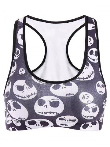 Affordable Women's Active Skull Print Sport Crop Top
