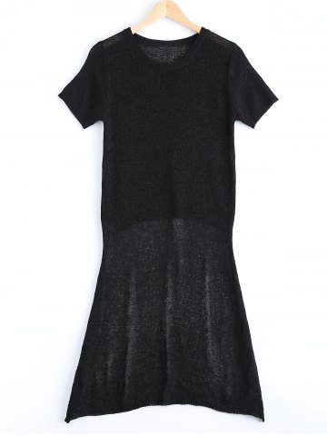 Affordable Asymmetrical Short Sleeve Jumper Dress