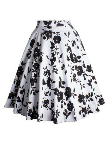 Hot Vintage Flower Printed Skirt