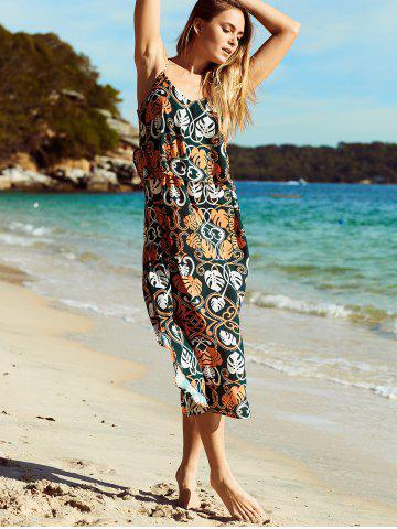 Hot Bohemian Spaghetti Strap Ornate Printed Women's Dress