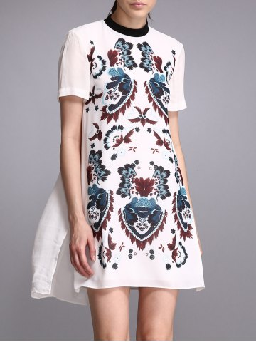 Chic Print Short Sleeve Dress