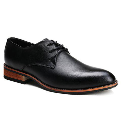 Stylish Pointed Toe and Tie Up Design Formal Shoes For Men