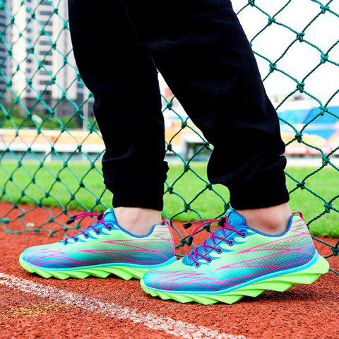 Outfit Fashion Lace-Up and Color Splicing Design Athletic Shoes For Men - 42 NEON GREEN Mobile
