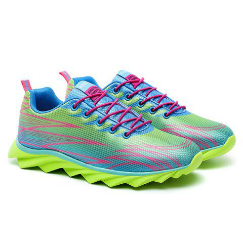 Online Fashion Lace-Up and Color Splicing Design Athletic Shoes For Men - 42 NEON GREEN Mobile