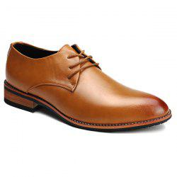 Stylish Pointed Toe and Tie Up Design Formal Shoes For Men -