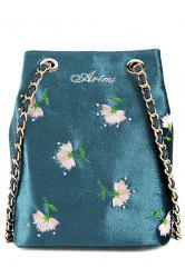 Floral Velour Crossbody Bag