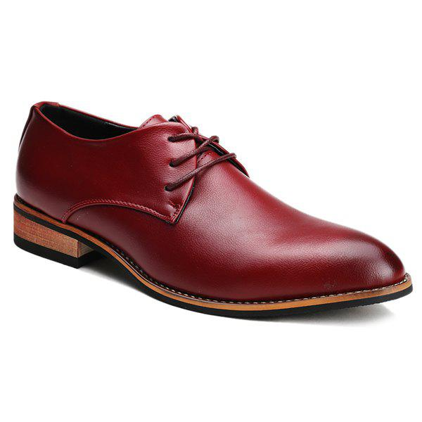 Outfit Stylish Pointed Toe and Tie Up Design Formal Shoes For Men
