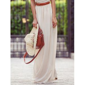 Flowy Maxi Skirt - Off-white - S