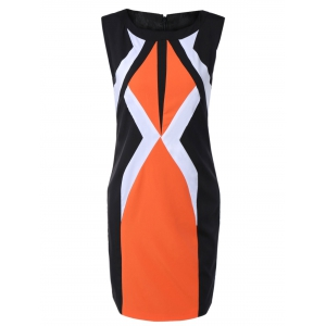 Mini Geometric Sheath Dress