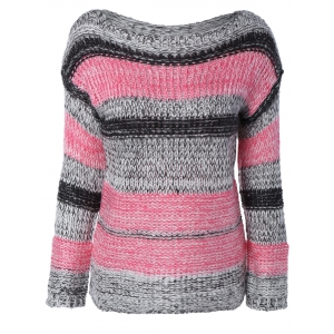 Long Sleeve Colorful Striped Sweater
