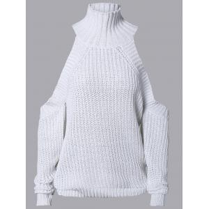 High Neck Cut Out Pure Color Sweater