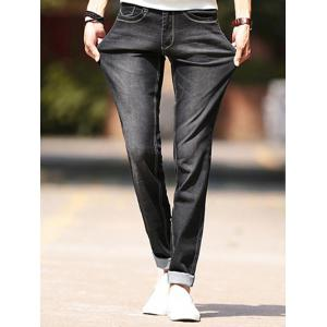 Brief Style Slim Fit Jeans For Men