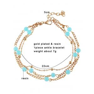 Beads Layered Leg Gemstone Anklets -
