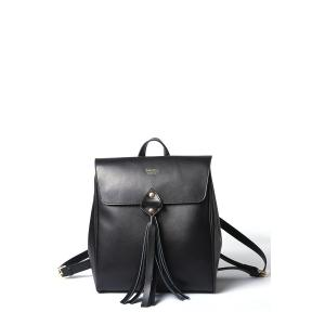 Fringe Leather Backpack - Black - 37
