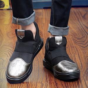 Fashion Splicing and Elastic Band Design Casual Shoes For Men -