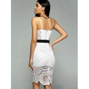 Alluring Spaghetti Strap Lacework Sheath Lace Dress -