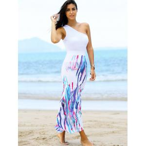 Fashionable One Shoulder Top and High Waist Skirt For Women -